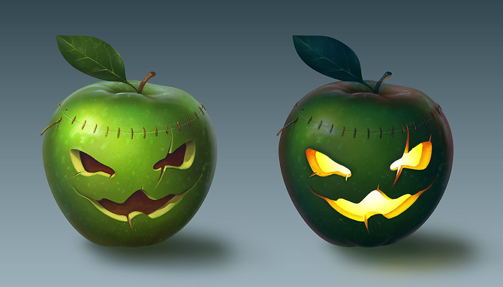 Halloween apple